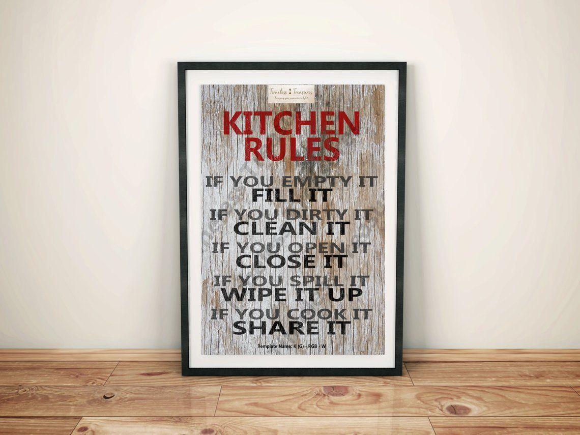 Kitchen (G) - Kitchen Rules - (Digital Download, Instant Download, Printable) #kitchenrules