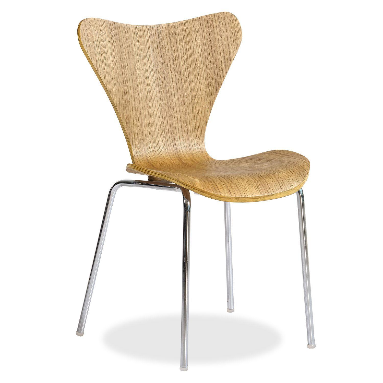 Silla JACOP -Natural Wood- (Sillas Icono del Diseño) - Series 7 ...