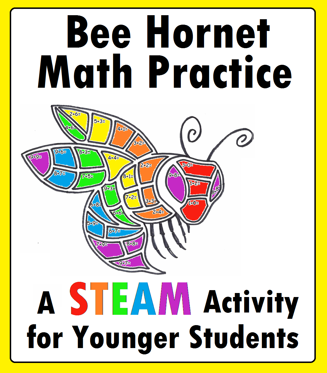 Bee Hornet Mascot Math Steam Worksheet For Kindergarten