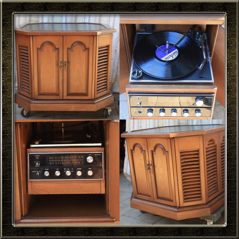 Vintage Magnavox Stereo Am Fm Radio With Turntable End