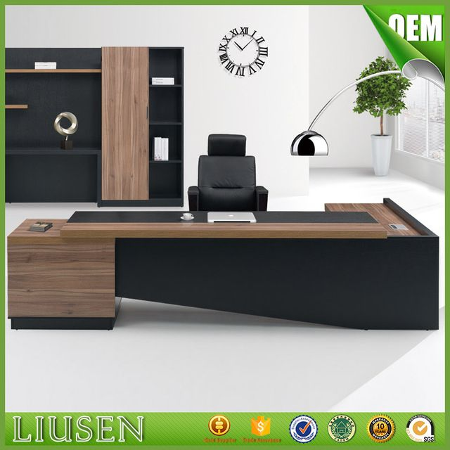 Source Fashion High End Office System Furniture L Shape Manager Executive Office  Desk With Long Cabinet