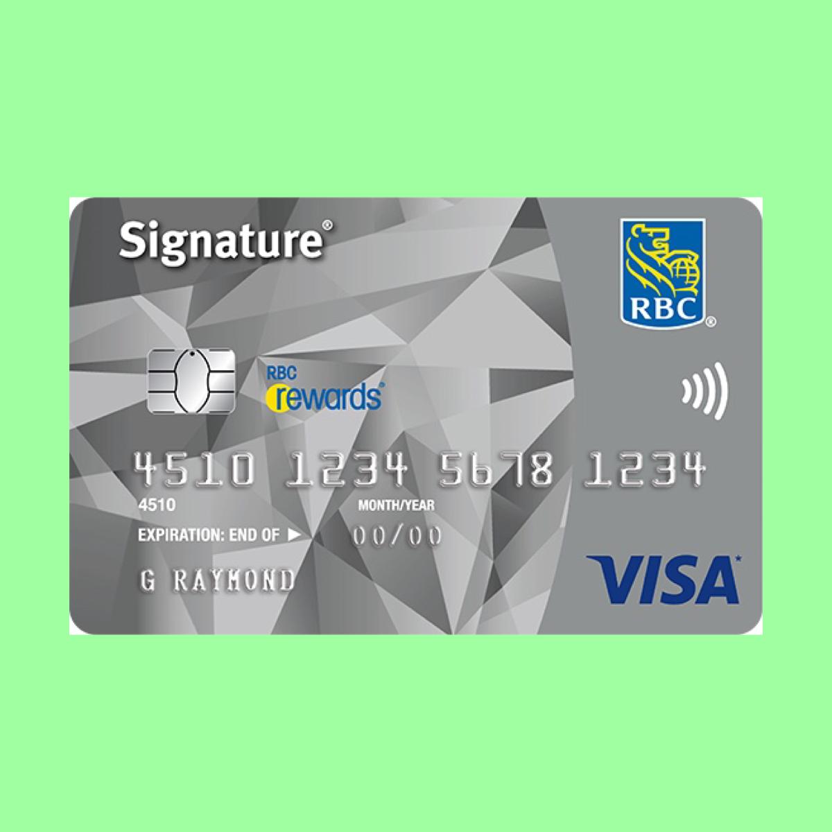 Signature Rbc Rewards Visa The Point Calculator Visa Card Visa Reward Card