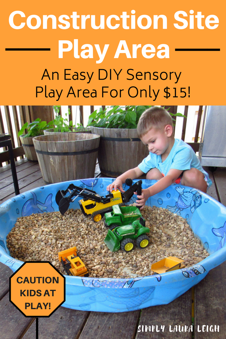 DIY Construction Play Area - For Under $15 images