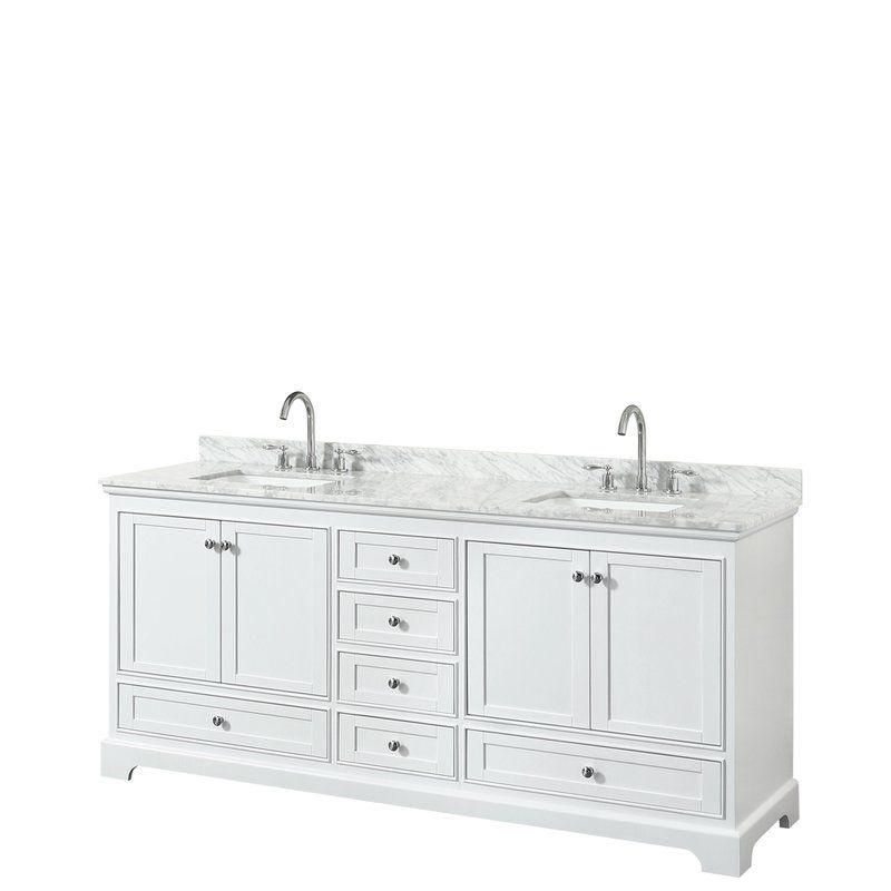 Deborah 80 Double Bathroom Vanity Set Marble Vanity Tops