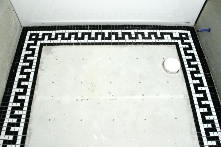 Tile Floor Border Images Home Flooring Design Bathroom