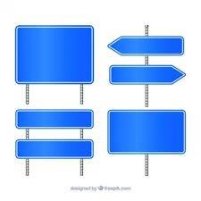 Afbeeldingsresultaat voor blauw verkeersbord