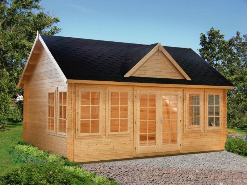 Lakeview Cabin Kit 209 Sq Ft One Room Bzb Cabins Cabin Kits For Sale Garden Cabins Cabin Kits