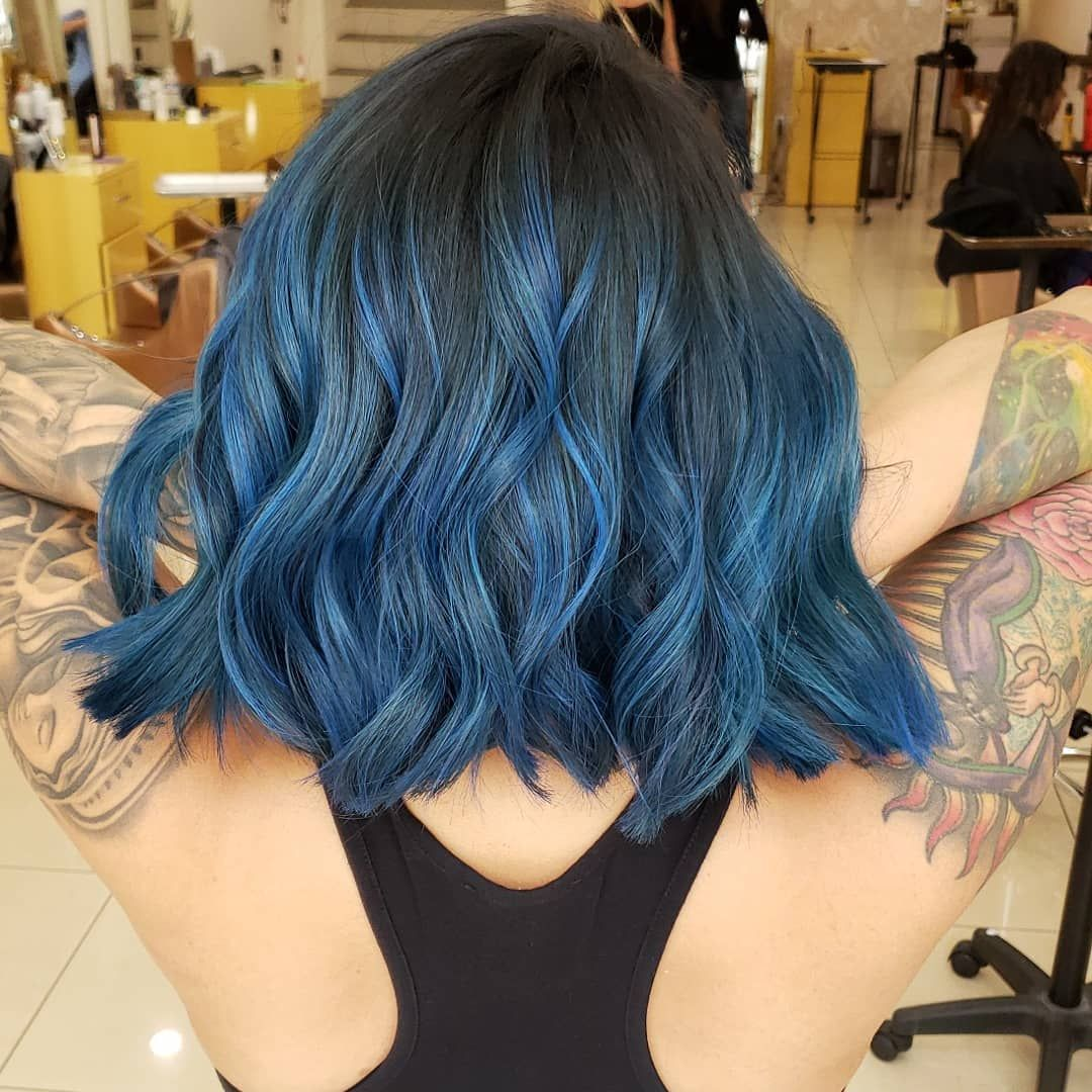 Dianaviramontes Arctic Fox Hair Color Crueltyfreehairdye Veganaf Bluehair Afbluejeanbaby Pretty Hair Color Short Blue Hair Hair Styles