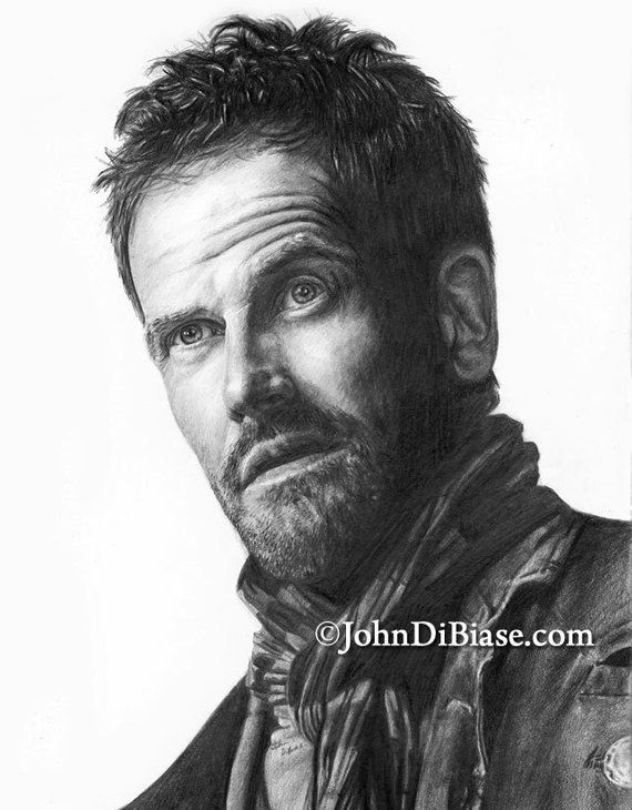 Jonny Lee Miller as Sherlock Holmes in TVs Elementary Drawing Print