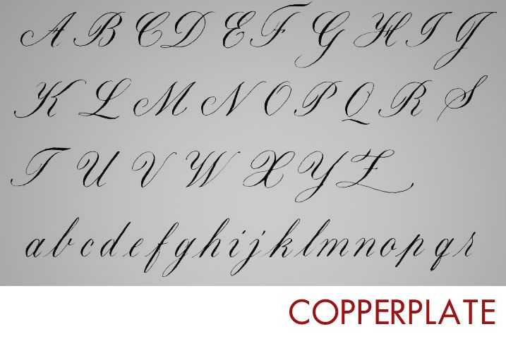 Adaptable image pertaining to copperplate calligraphy alphabet printable