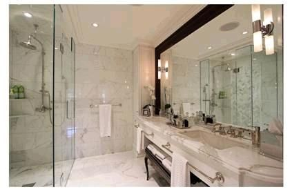 Stunning Calacatta Oro Bathroom. Project by tony@marbletrend.Material supply by http://www.marbletrend.com