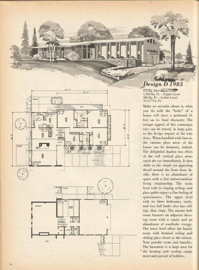 Vintage House Plans Multi Level Homes Part 12 Vintage House