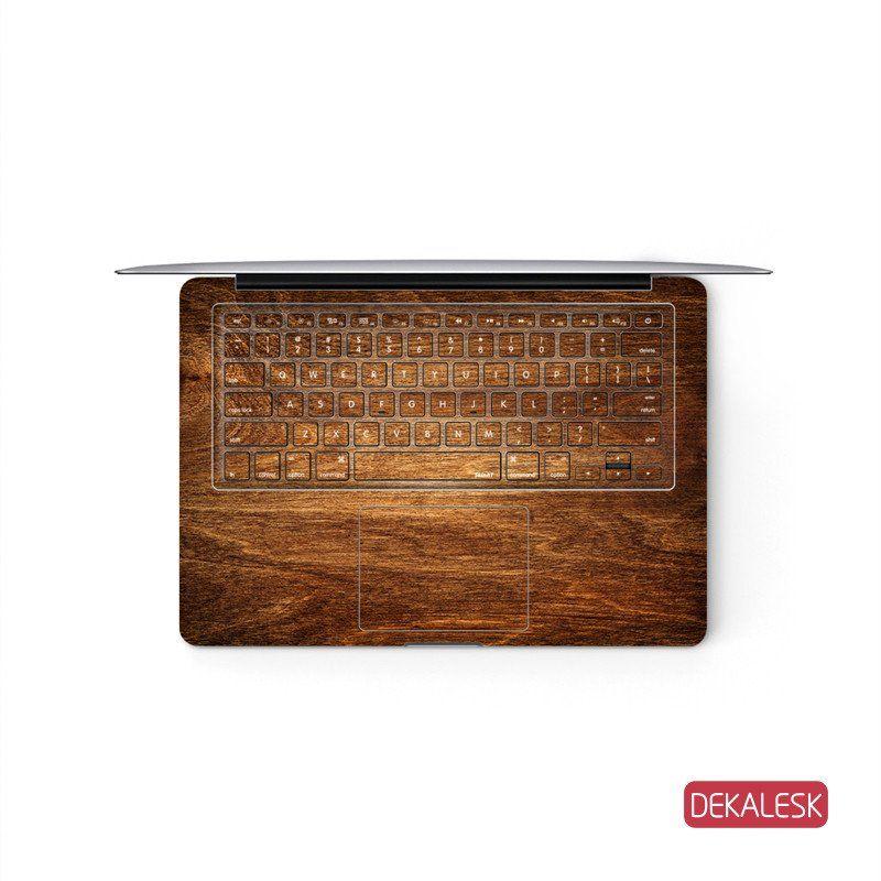 Rosewood Grain - MacBook Keyboard Skin