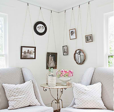 Creative way to hang up your photographs.