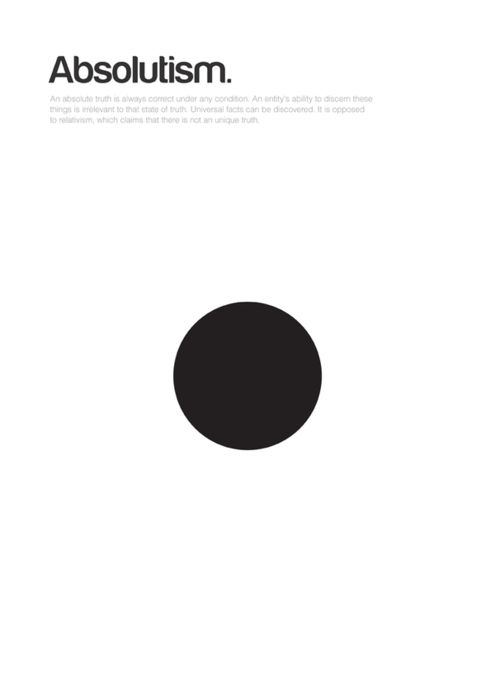 absolutism - Philographics: Big Ideas In Simple Shapes | typography / graphic design: Genis Carreras |