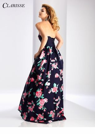 clarisse floral ball gown 3029  corset dress prom prom