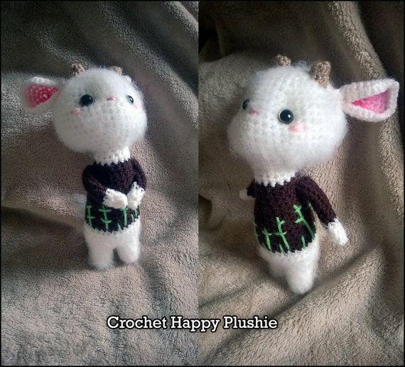 PATTERN Lisa the Goat / amigurumi crochet doll plushie / ebook / how ...