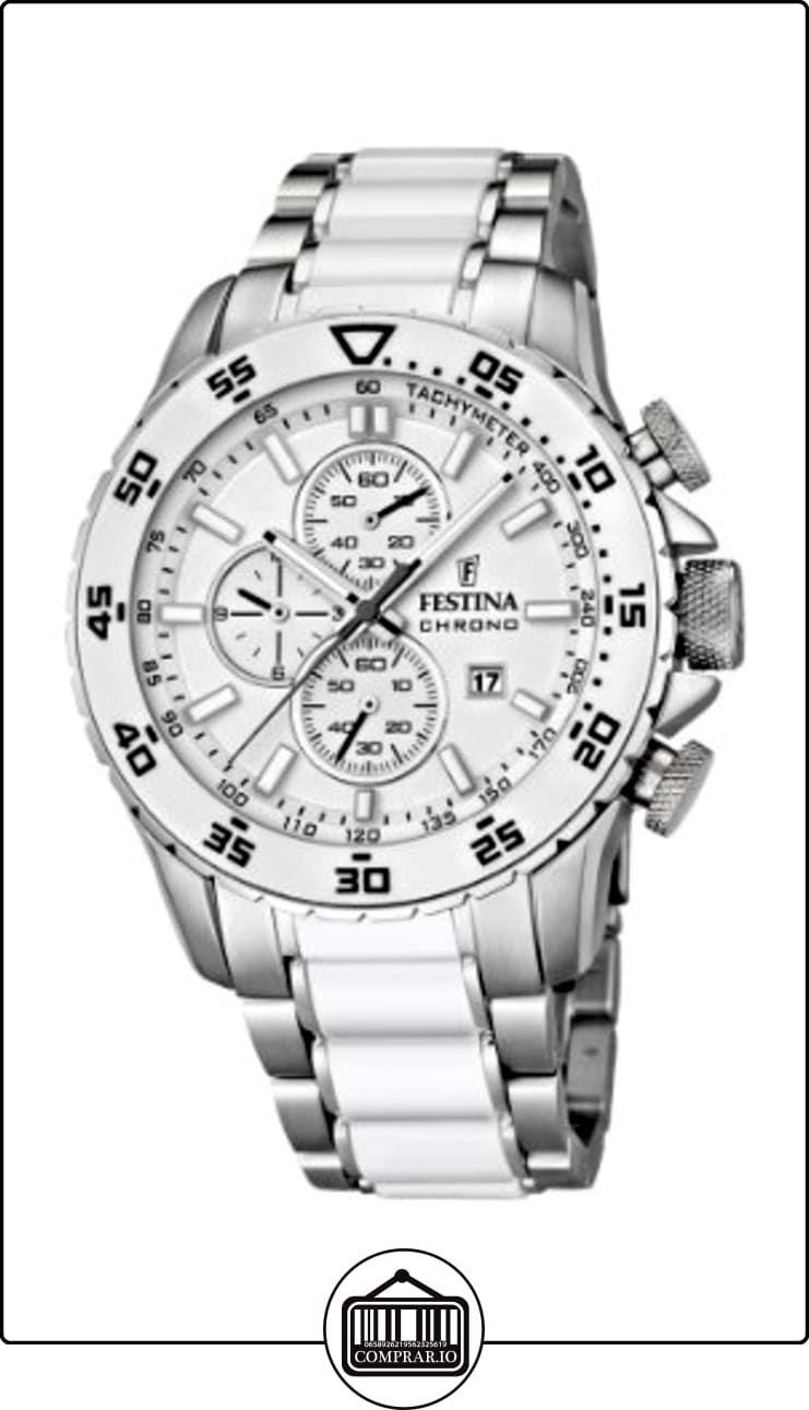 9ca4b6861e0f Festina F16628 1 - Reloj cronógrafo de cuarzo para hombre con correa de  acero inoxidable
