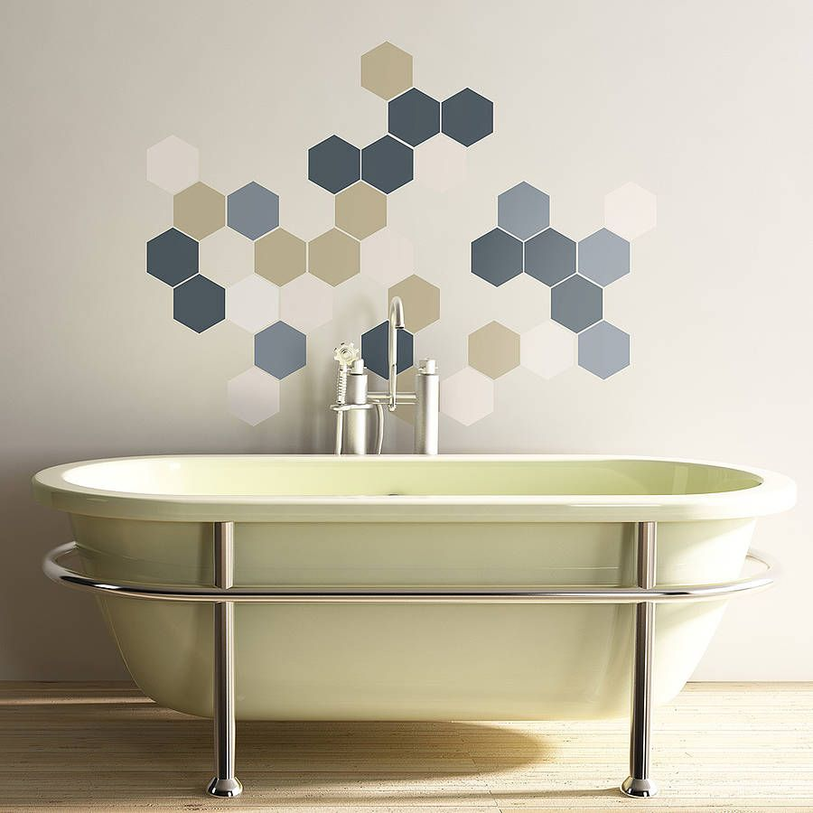 Beau Geometric Hexagons Wall Stickers