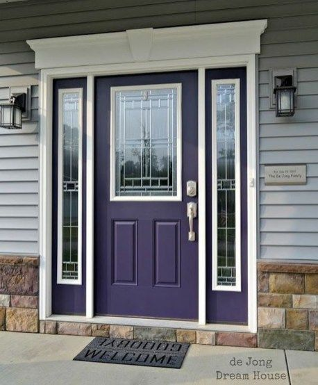 Outstanding Colorful Door Ideas For House 11 is part of Purple front doors, Entry door colors, Purple door, Front door colors, Exterior front doors, Door color - Outstanding Colorful Door Ideas For House 11