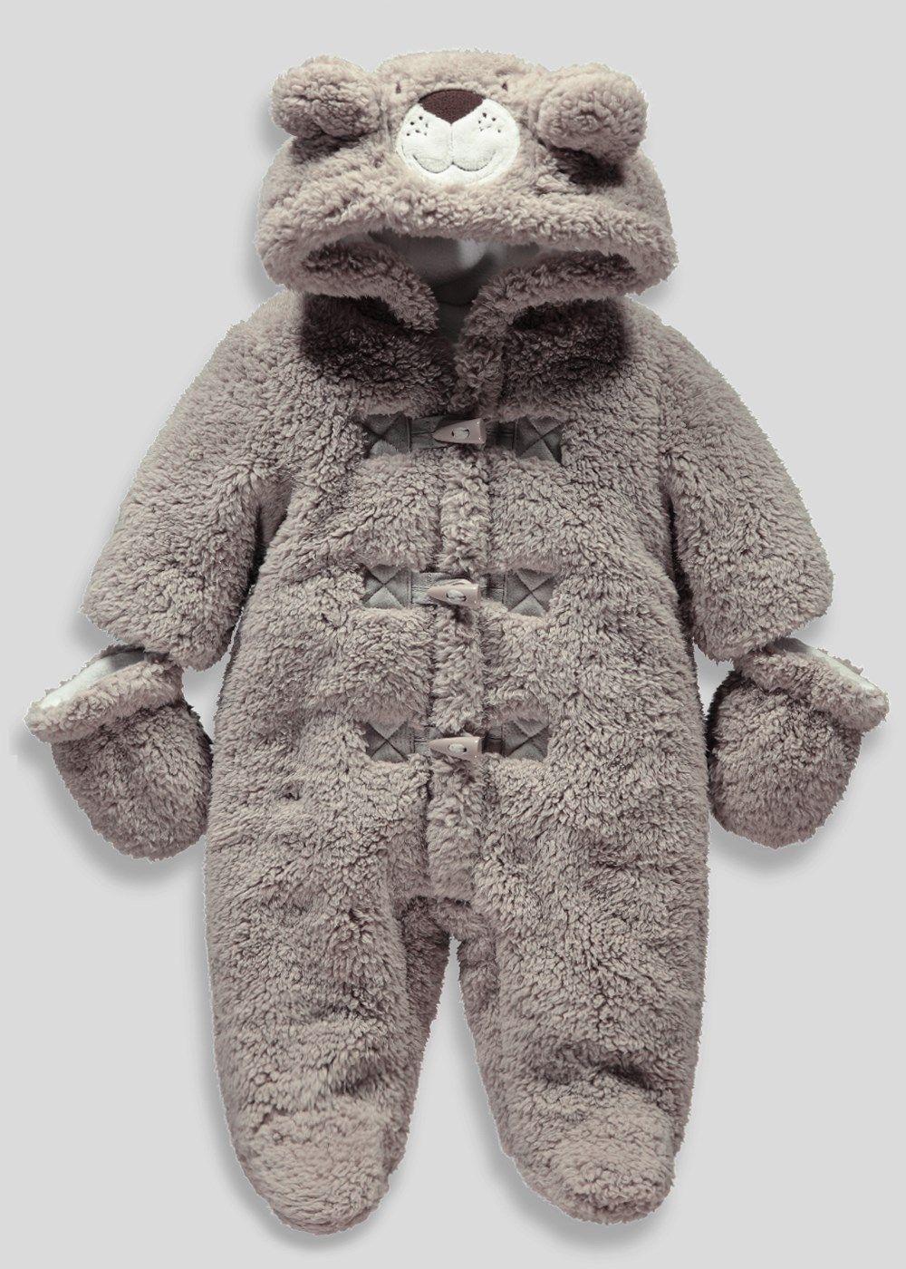 2d8d96c12 Boys Bear Snowsuit with Mittens (Newborn - 18mths) - Matalan £16 ...