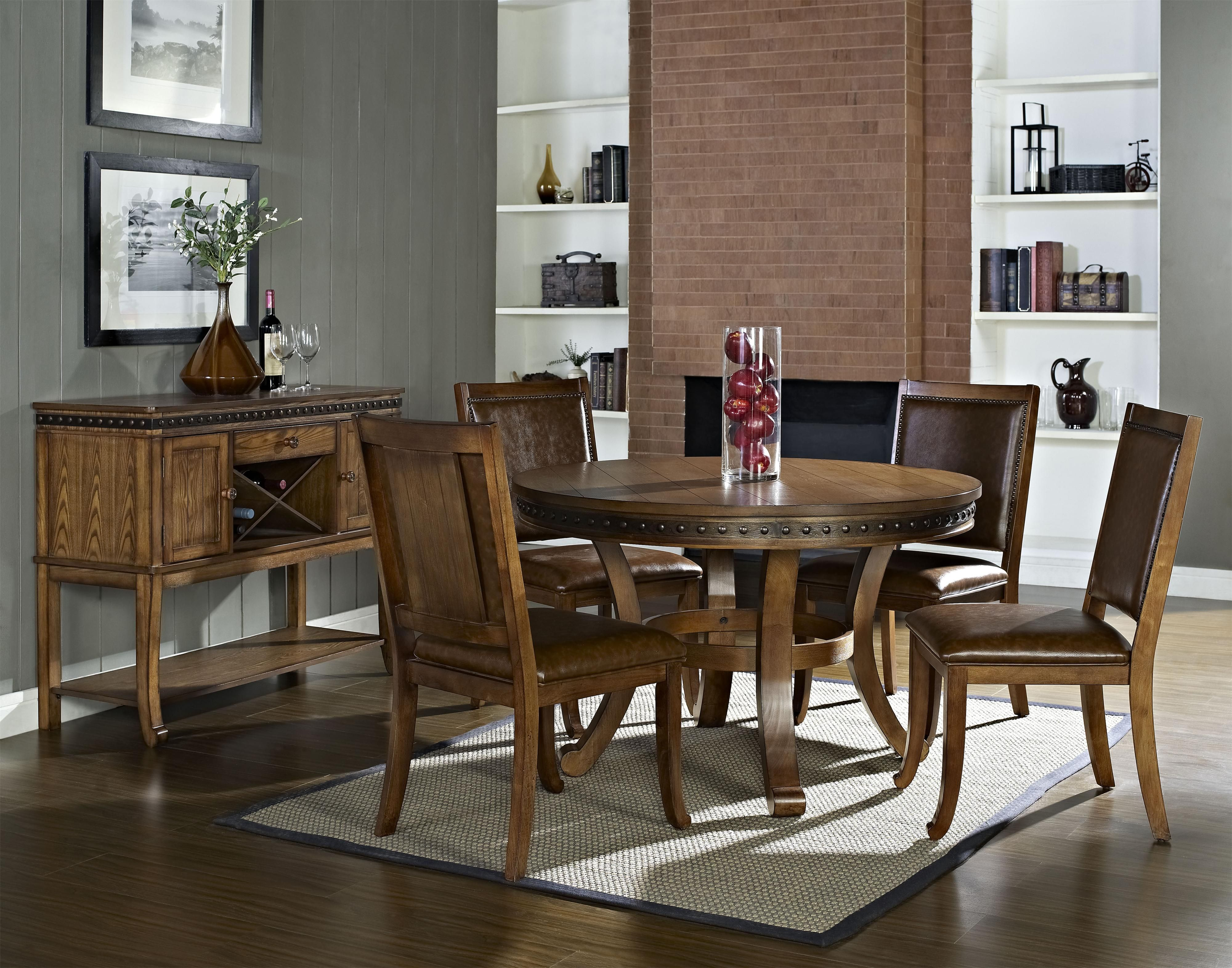Ashbrook Round Pedestal Table GREAT AMERICAN HOME STORE $800 ...
