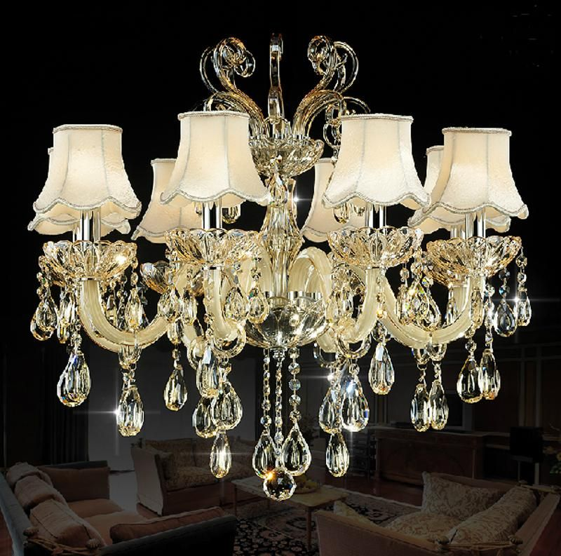 8 Lights Crystal Pendant Chandelier Lighting In Free