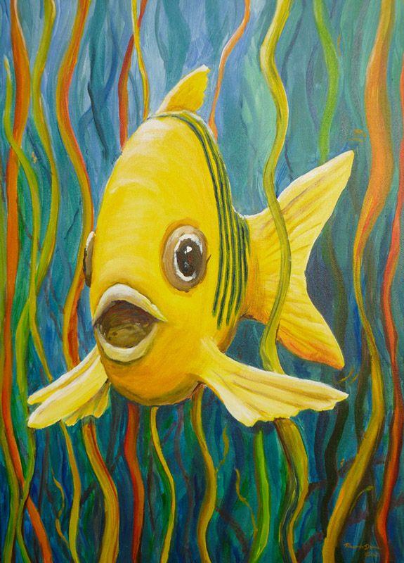 Fisch Acryl 50x70cmopt.jpg (575×800) Malerei Paintings
