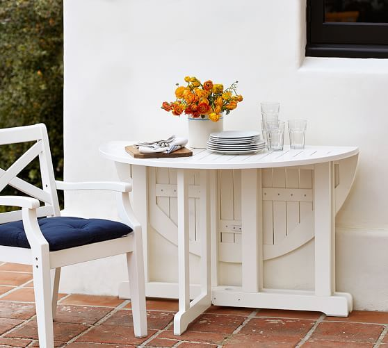 Hampstead Painted Round Drop Leaf Dining Table White Dining