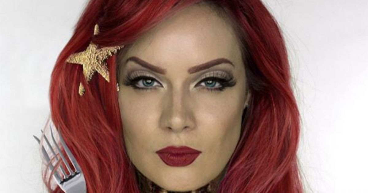 A Makeup Artist Gave These Disney Princesses A Gory Makeover #refinery29 http://www.refinery29.com/2015/10/96328/disney-princesses-gore-makeup-instagram-halloween