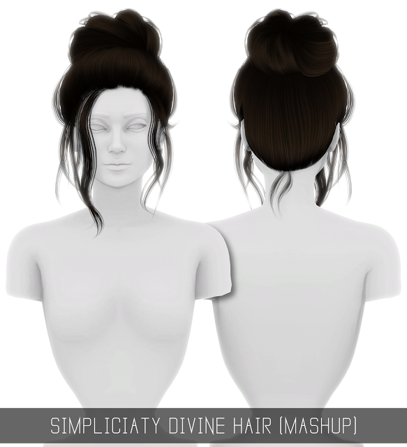 Sims 4 CC's The Best DIVINE HAIR (MASHUP) by