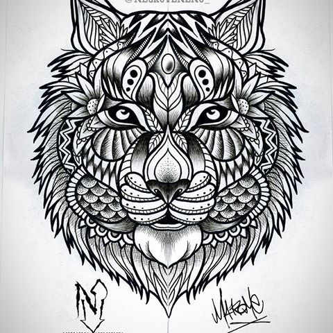 Pin de diego alejandro klonn en tigres y leones tattoo - Mandalas de tigres ...