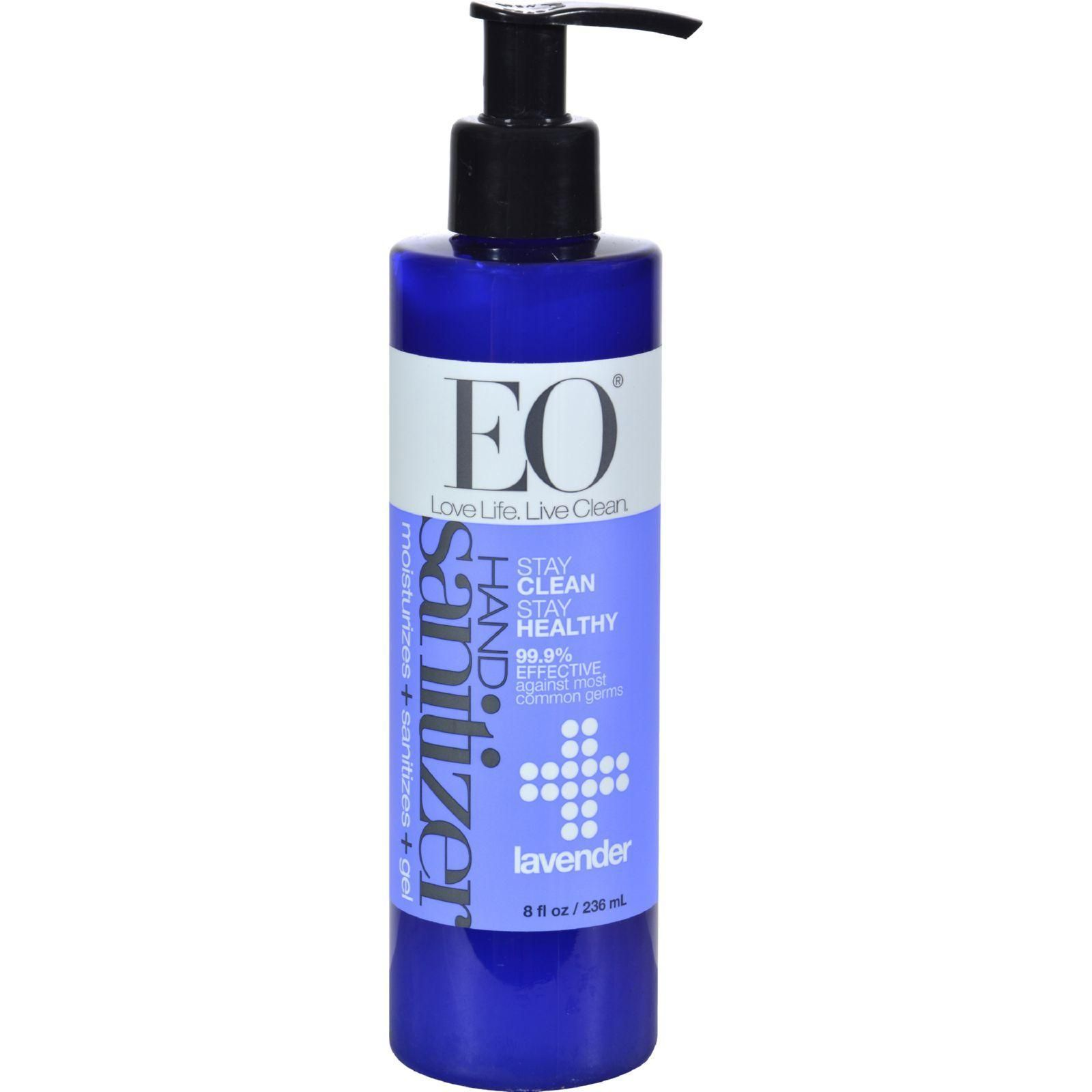 Eo Products Hand Sanitizing Gel Lavender Essential Oil 8 Oz