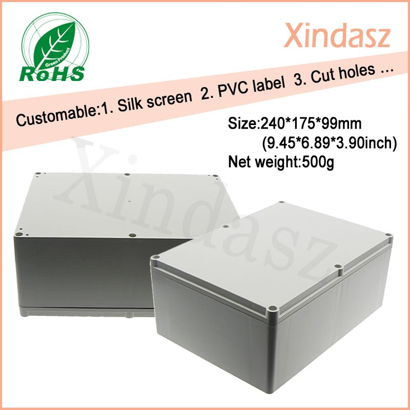 240 175 99mm Large Plastic Waterproof Boxes Plastic Electronics Project Box Abs Plastic Electronic Box Light Accessories Pvc Waterproof