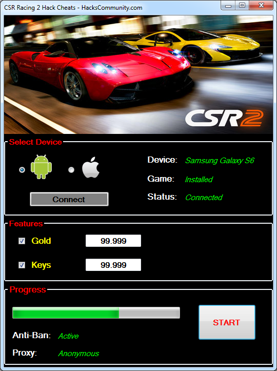 csr racing cheats android