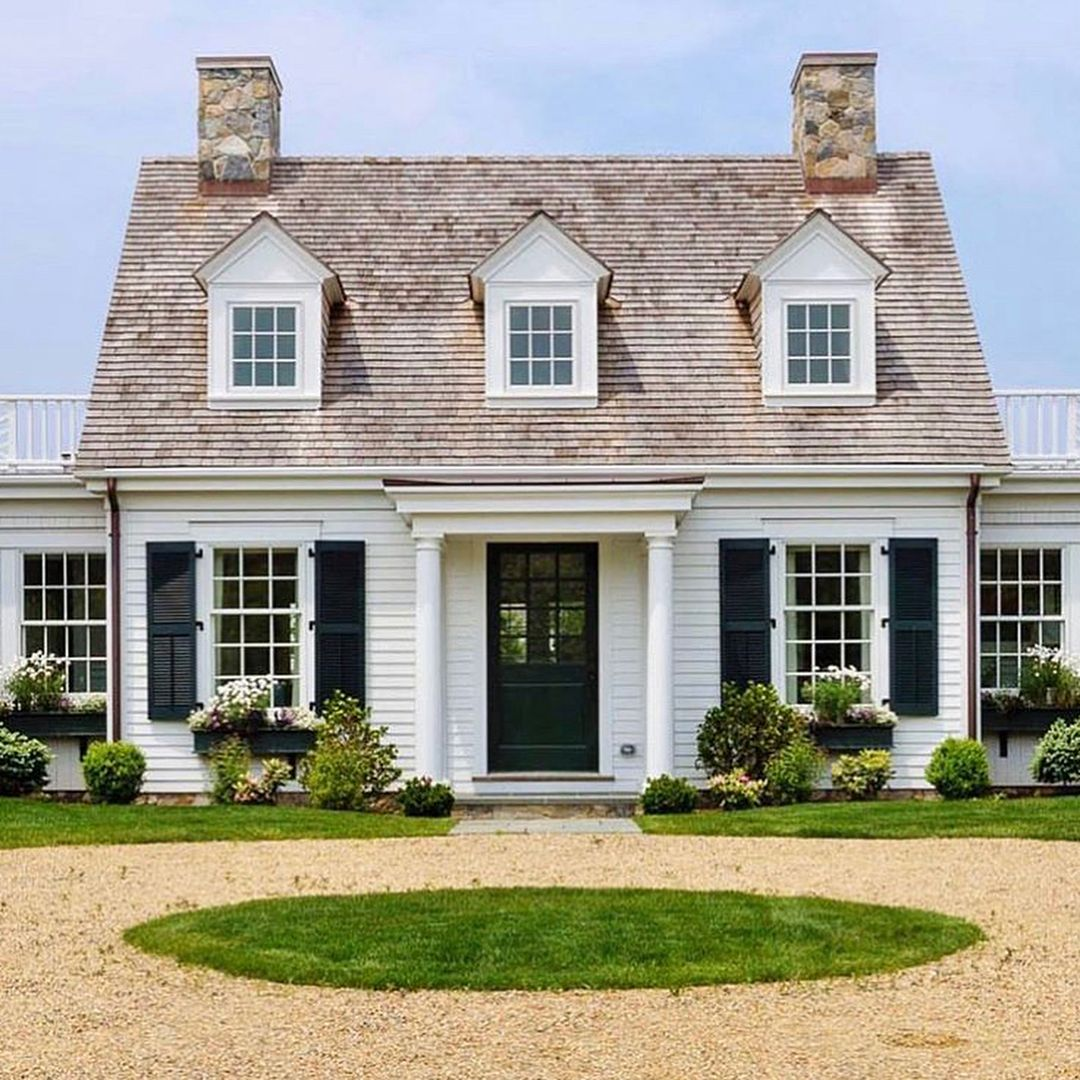 Black And White Home Exteriors Are My Favs Cape Cod House Exterior House Exterior House Styles