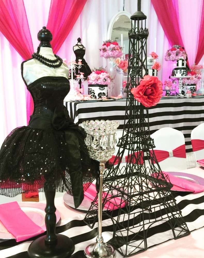 Stunning Parisian Quinceañera birthday party! See more party planning ideas at CatchMyParty.com! #quinceaneraparty