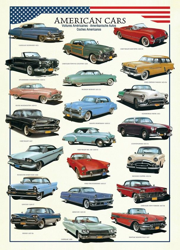 Eurographics Jigsaw Puzzles American Cars Of The Fifties Craft