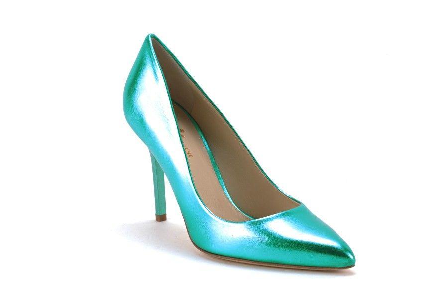 Scarpe Donna SCARPE ITALIANE Decollete metallizzato Verde acqua. Cerca  questo Pin e ... 7813688eb5f