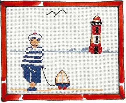 Marin & phare | Point de croix, Grille point de croix et ...