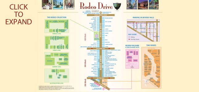 Rodeo Drive Map Beverly Hills California 90210 Offical Site