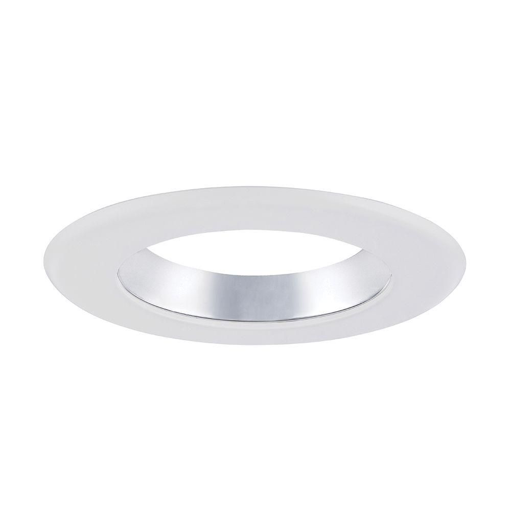 Envirolite 6 in decorative specular clear cone on white trim ring decorative specular clear cone on white trim ring for led recessed light arubaitofo Choice Image