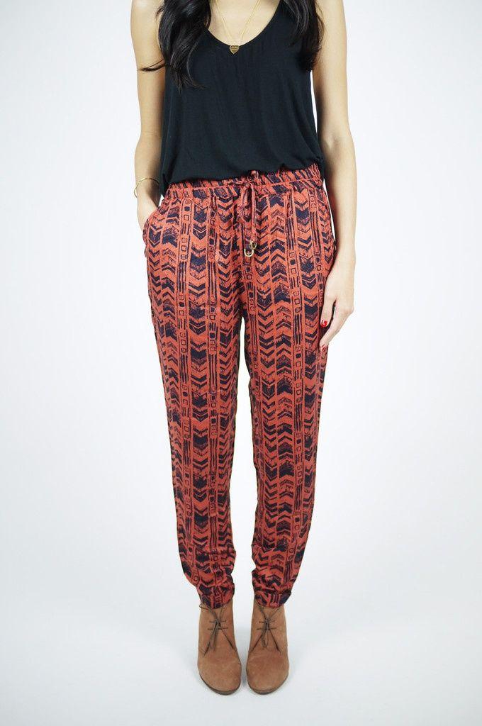 Loose Patterned Pants Beauty Fashion Fall Pants
