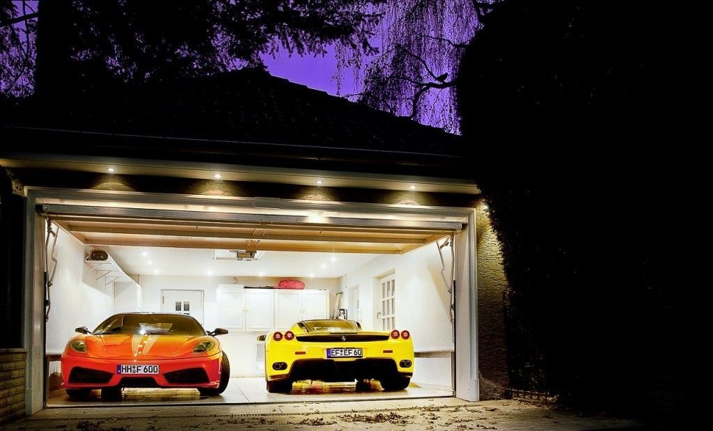 This Garage Will Most Closely Mimic The Layout I Am Looking For A Double Wide Door With White Walls And Recessed Li Recessed Lighting White Walls Double Wide