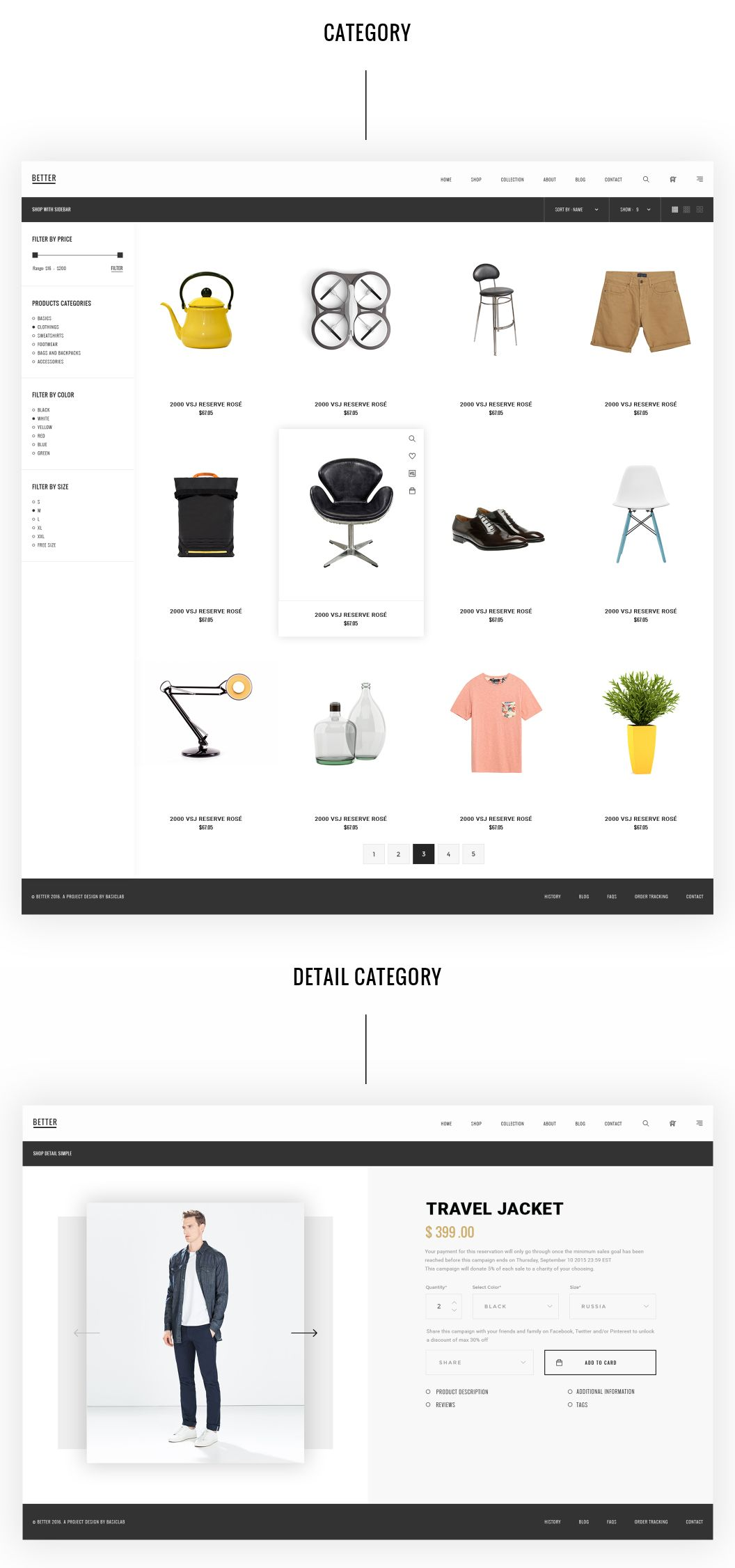Better Shop is a beautiful collection of E merce PSD