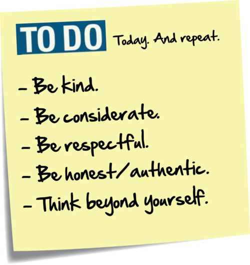 The importance of being kind authenticity respectful and