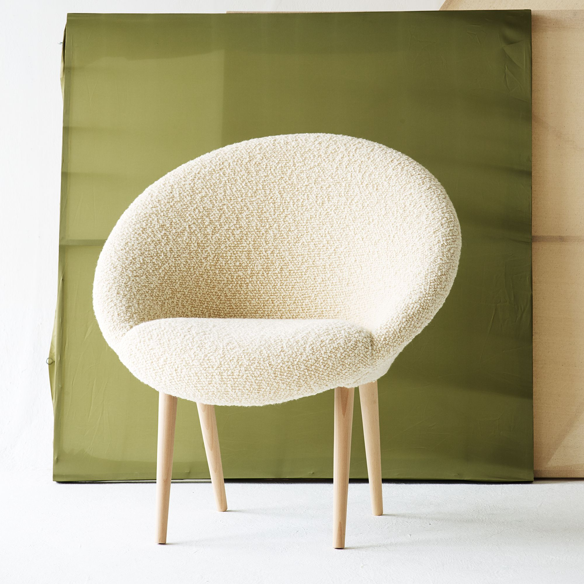 Buy the Cream Moon Chair at Oliver Bonas. We deliver Homeware ...
