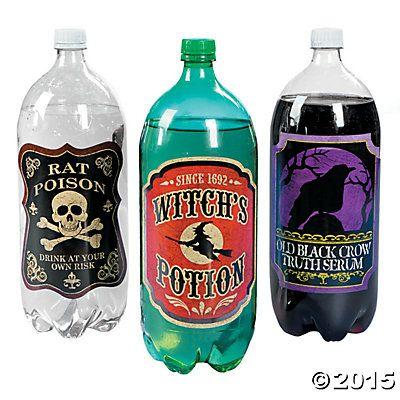 Witches Brew 2-Liter Drink Bottle Labels, $5 for 12 Improv - bulk halloween decorations