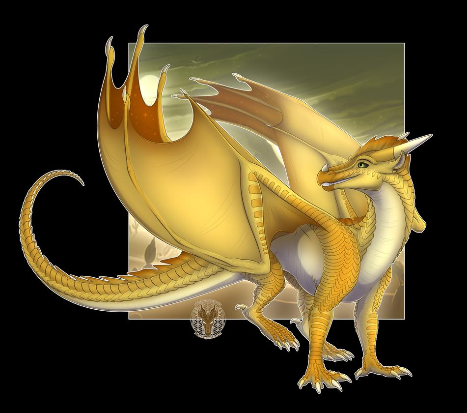 Sunny The Sandwing Hybrid By Xthedragonrebornx Wings Of Fire Wings Of Fire Dragons Fire Art