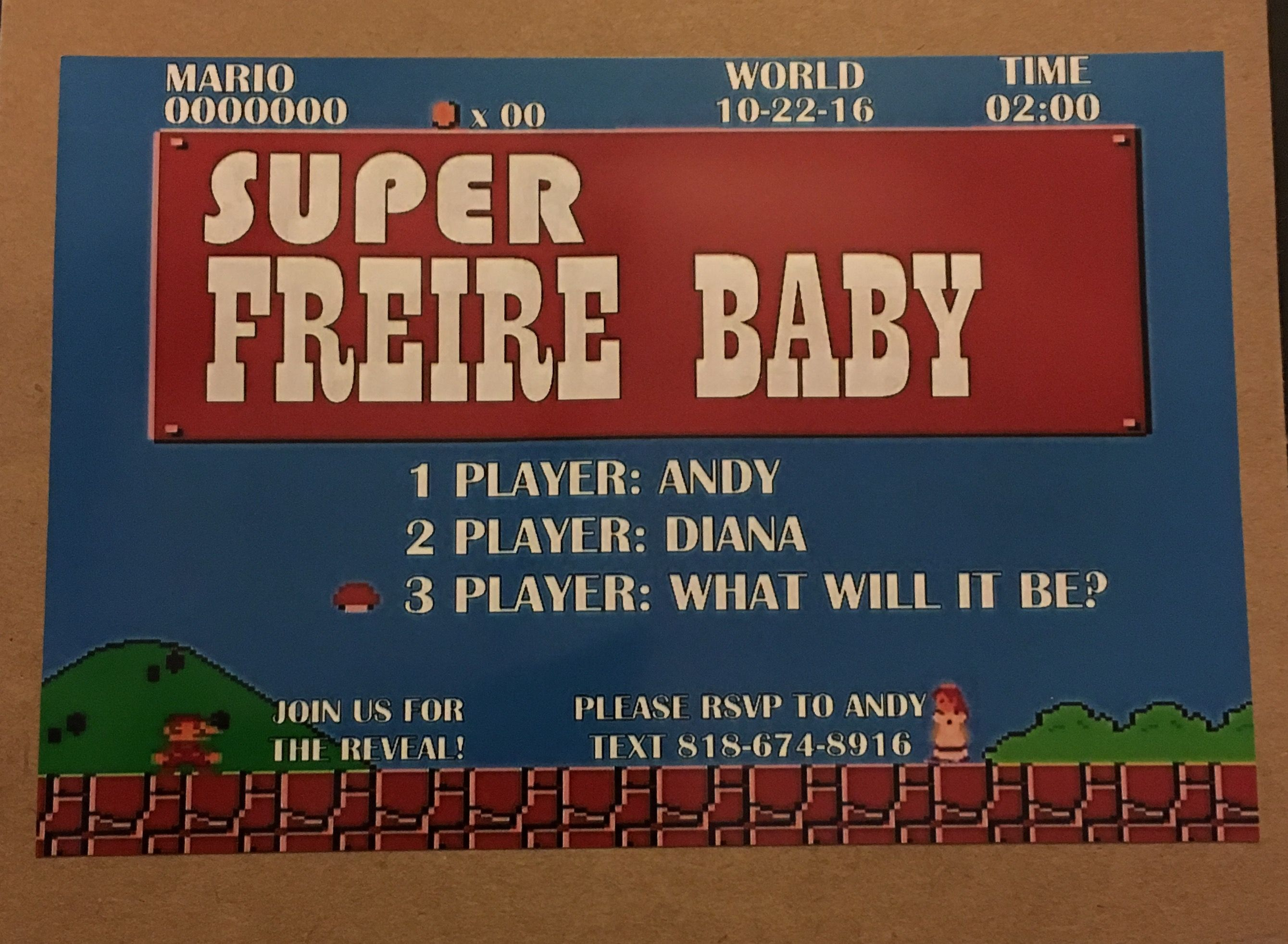 Pin by Pixyofluv 3 on Super Mario themed gender reveal